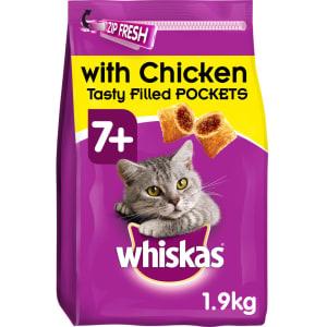 Whiskas 7+ Complete Senior Dry Cat Food - Chicken