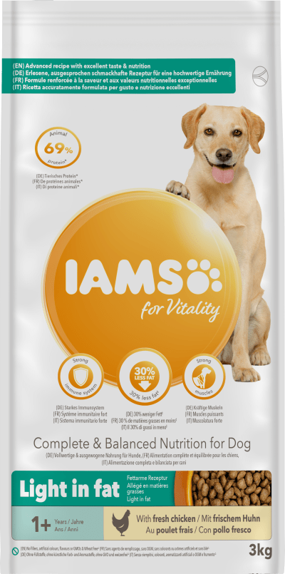 Iams Light Adult Dog Food Pet Supermarket Co Uk