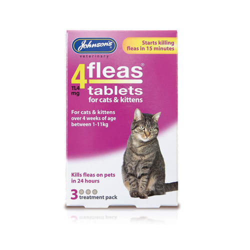 Johnsons 4fleas Tablets Cats Pet Supermarket Co Uk