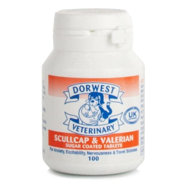 Dorwest Scullcap & Valerian Tablets for Dog & Cat