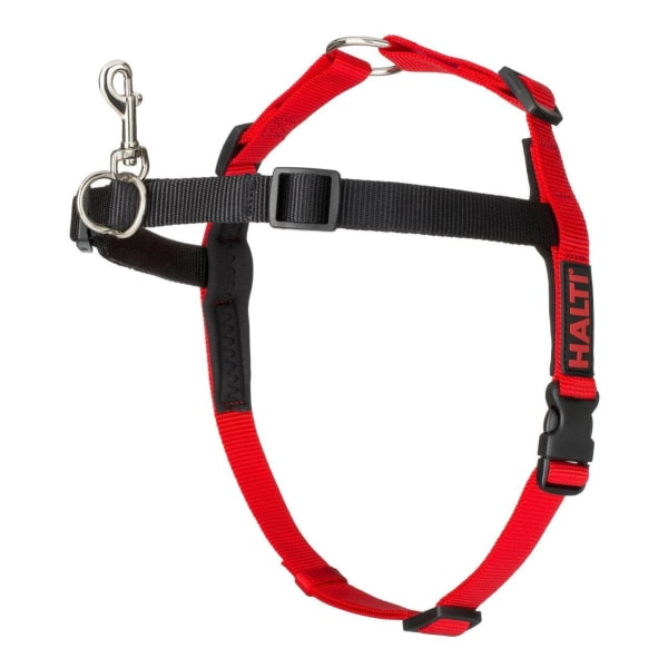 Halti Front Control Dog Harness in Black & Red