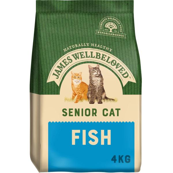 James Wellbeloved Complete Senior Dry Cat Food - Fish