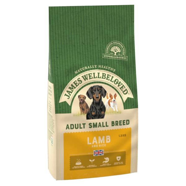 James Wellbeloved Small Adult Dry Dog Food - Lamb & Rice