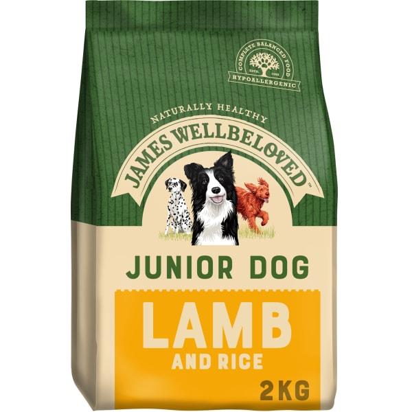 James Wellbeloved Junior Dry Dog Food - Lamb & Rice
