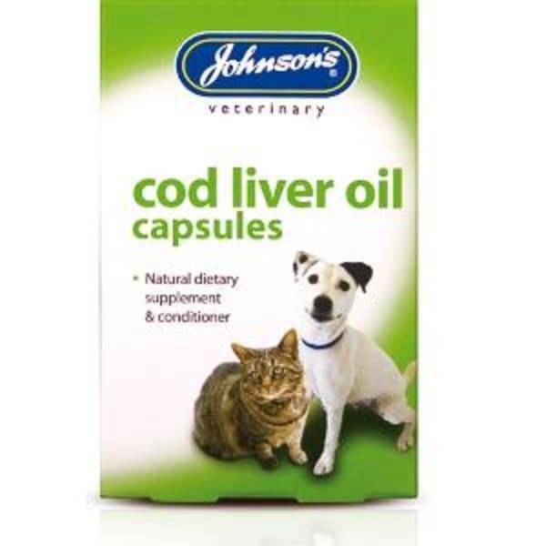 Johnsons Cod Liver Oil Capsules for Cat & Dog