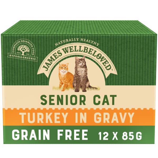 James Wellbeloved Grain Free Senior Cat Wet Food Pouch - Turkey