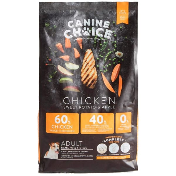 Canine Choice Grain Free Small Adult Dry Dog Food - Chicken