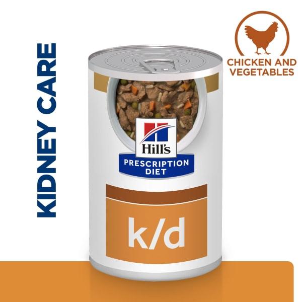 Hill's Prescription Diet Kidney Care k/d Adult Wet Dog Food - Chicken & Vegetables