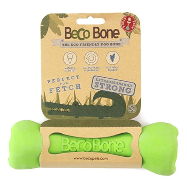 Beco Pets Bone Dog Toy in Green