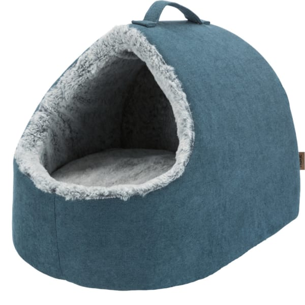 Trixie Vital Cat Cuddly Cave in Petrol Blue