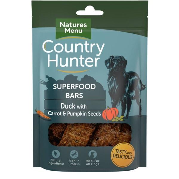 Natures Menu Country Hunter Superdood Bars Adult Dog Treats - Duck with Carrot & Pumpkin Seeds