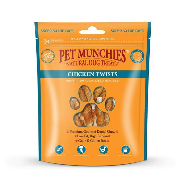 Pet Munchies Dog Treats - Chicken Twists