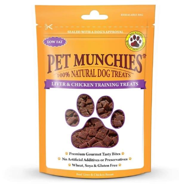 Pet Munchies 4+ Months Puppies Dog Training Treats - Liver & Chicken
