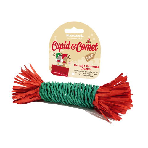 Rattan Christmas Cracker for Small Animals