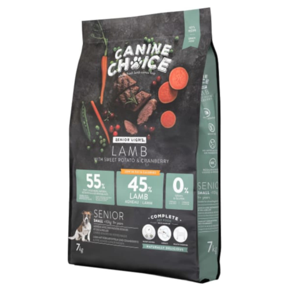 Canine Choice Senior Light Small Dog Food - 7kg - Lamb